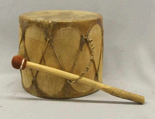 Plains Indian Drum With Beater