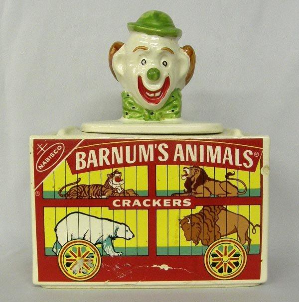 USA Made Barnum's Animal Crackers Pottery Jar