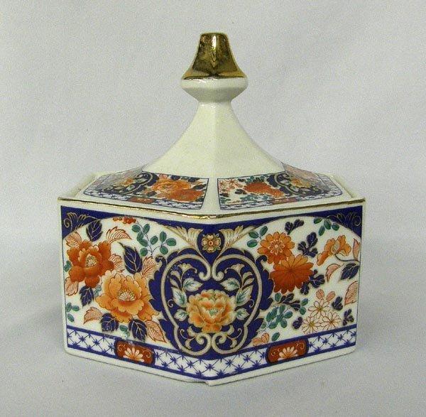 Japanese Porcelain Lidded Women's Powder Box