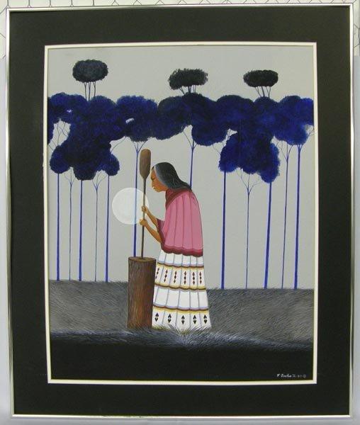 1987 Original Gauache Painting By E Joshua Jr