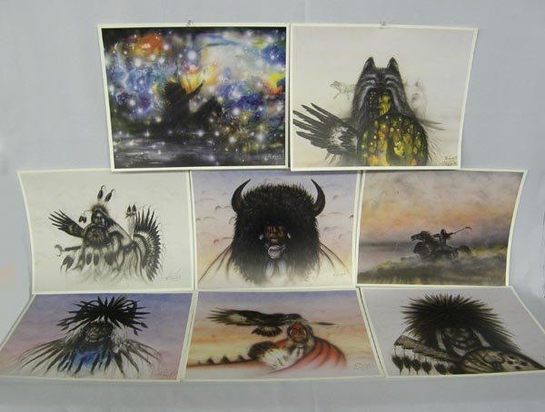 Collection Comanche Hand Signed Prints By Saupitty