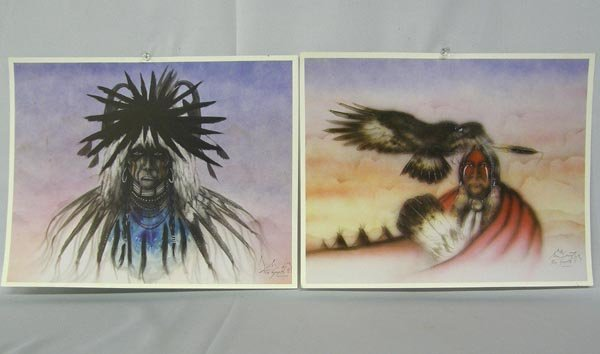 Collection Comanche Hand Signed Prints By Saupitty - 2
