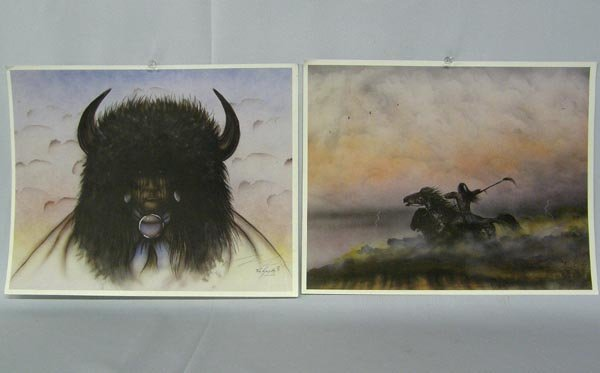 Collection Comanche Hand Signed Prints By Saupitty - 4