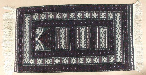 Persian Handwoven Wool Baluch Sumak Prayer Rug