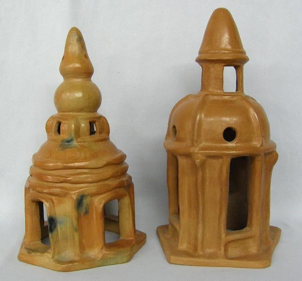 Pr Pottery Temple Candle Houses