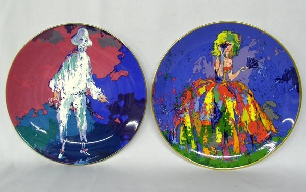 2 Royal Doulton Plates By LeRoy Neiman