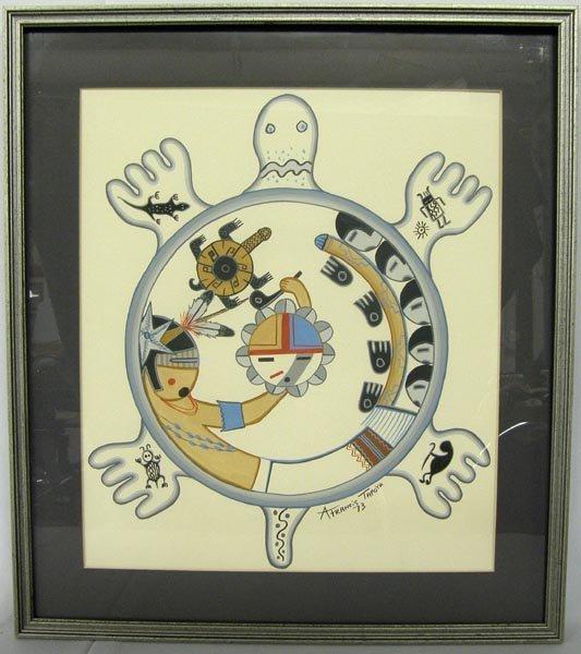 1973 Original Framed Pastel Painting by Tafoya