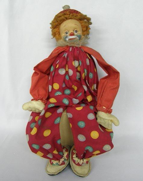 Vintage Cloth Clown Doll