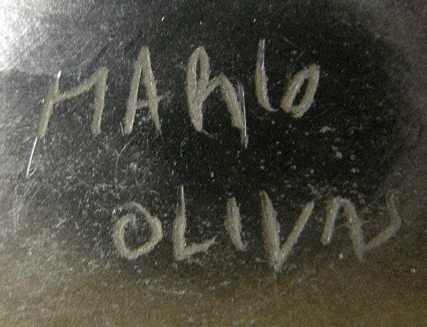 Mata Ortiz Black Textured Pottery by Mario Olivas - 5