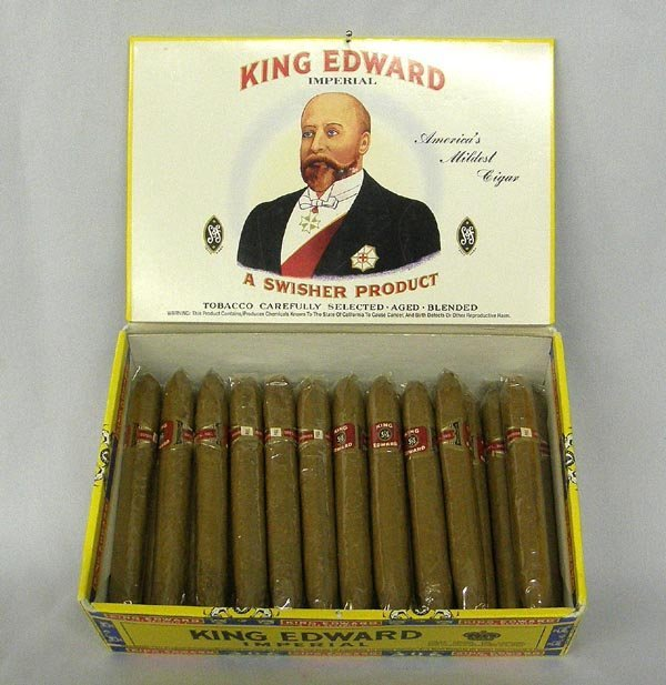 King Edward Swisher Cigar Box & Cigars