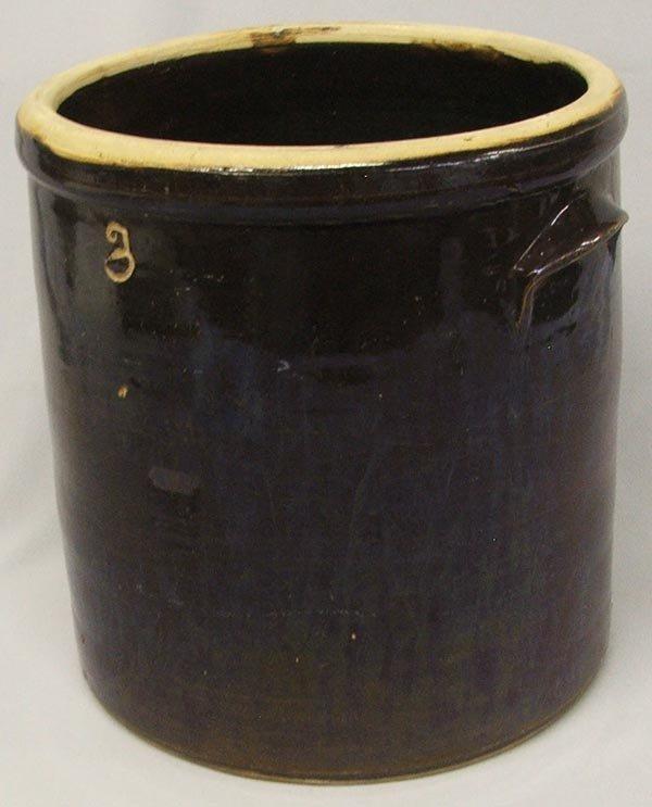 Brown Stoneware Crock, #3