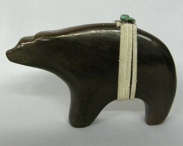 Isleta Pueblo Pottery Bear Fetish Signed