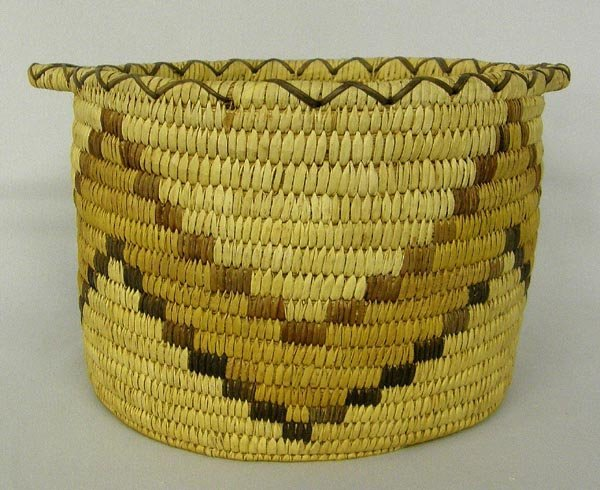 Papago Woven Basket With Handles