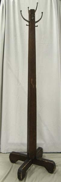 Antique Wood Coat Rack  MUST BE PICKED UP!