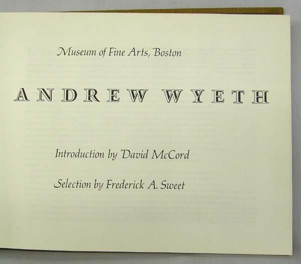1970 Andrew Wyeth Book