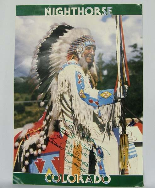 Navajo Signed Poster by Ben Nighthorse Campbell
