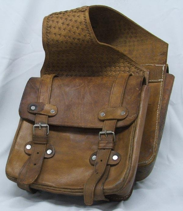 Vintage Leather Cowboy Saddle Bags