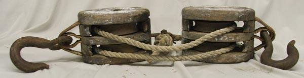 Antique Wooden Pulleys