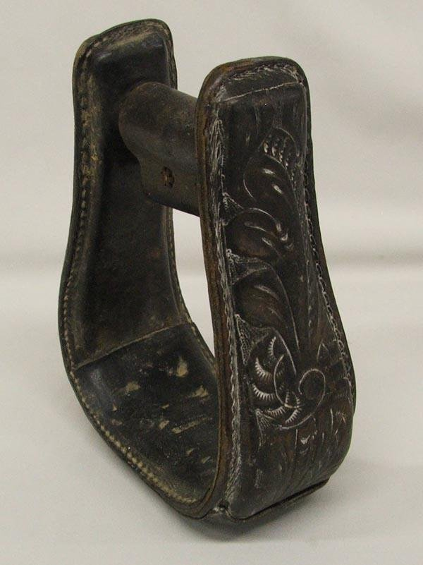 Hand Tooled Leather Single Stirrup