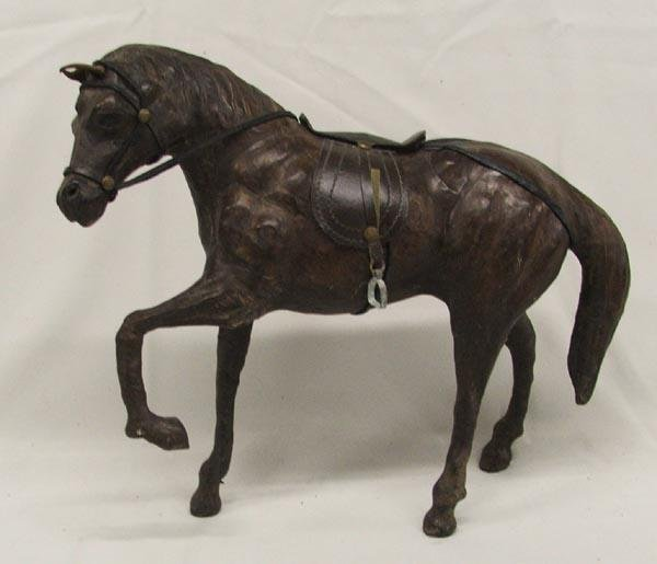 Leather Horse Statue