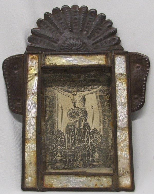 1900's Mexican Tin Nicho
