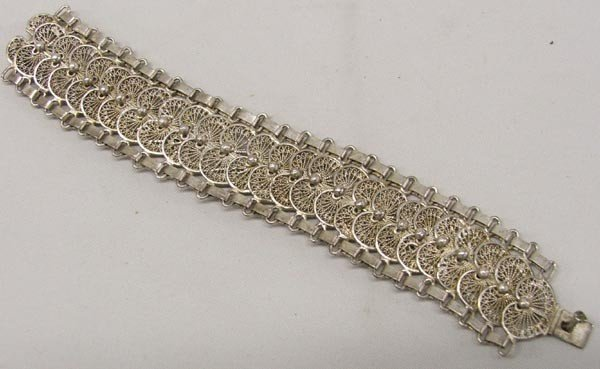 Mexican Silver Filigree Bracelet