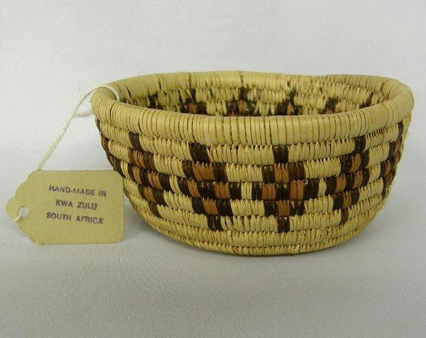 African Zulu Handwoven Basket
