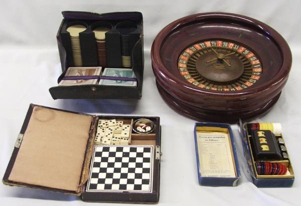 Vintage Gambler's Traveling Kits and Games