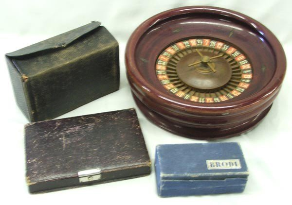 Vintage Gambler's Traveling Kits and Games - 2