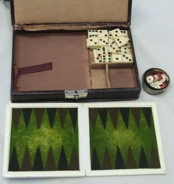 Vintage Gambler's Traveling Kits and Games - 3