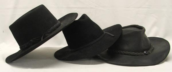 3 Western Hats
