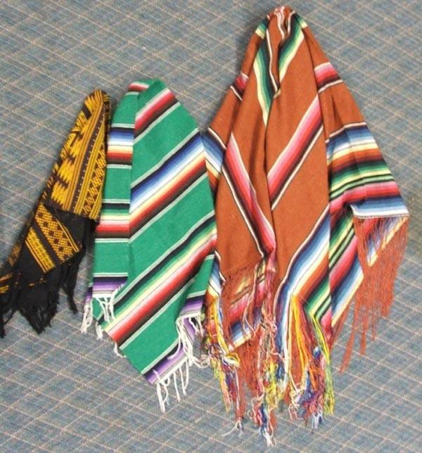 3 Mexican Textiles Throws