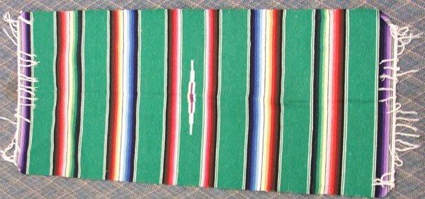 3 Mexican Textiles Throws - 4
