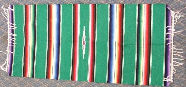 3 Mexican Textiles Throws - 4