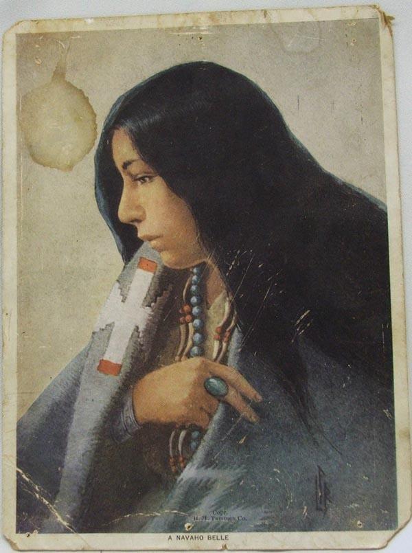 Navajo 1915 Navajo Giant Belle Postcard