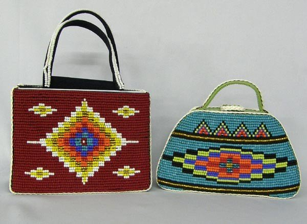 2 Hand Beaded Purses by Kills Thunder