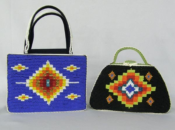 2 Hand Beaded Purses by Kills Thunder - 2