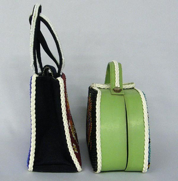 2 Hand Beaded Purses by Kills Thunder - 3