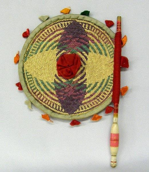 Vintage Woven Mexican Fan