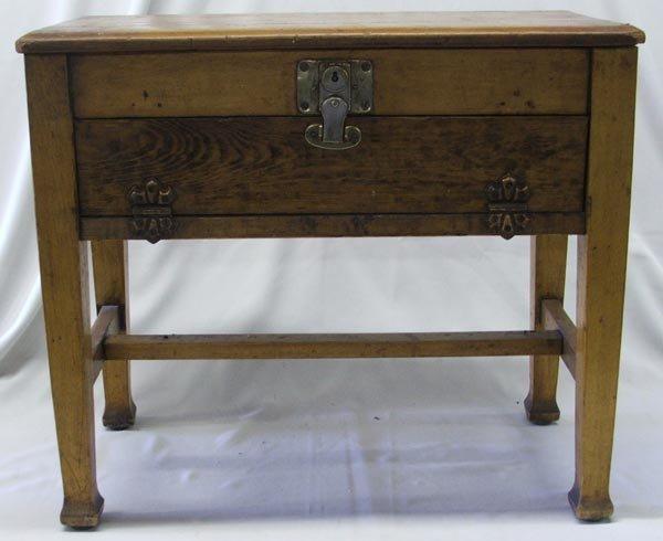 Antique Wood Piano Bench W/Sheet Music Drawer