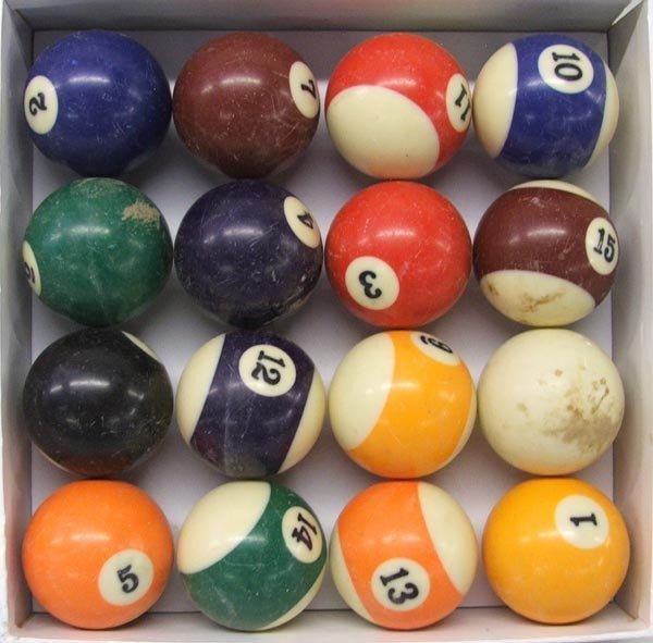 Complete Set Sportcraft Billiard Balls-Used