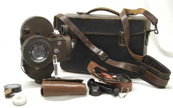 Victor 16mm Movie Camera in Case