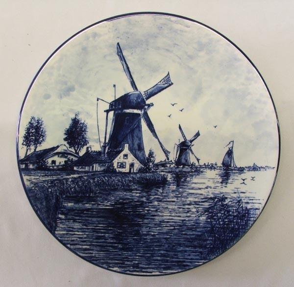 Delft Blue Handpainted Plate 1970s