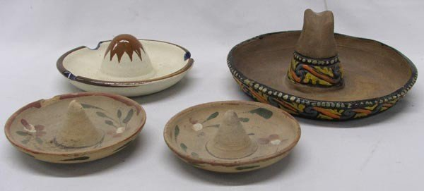 Vintage Mexican Pottery Hat Collection