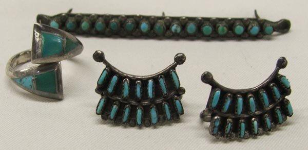 Zuni Needlepoint Embellishments plus ring