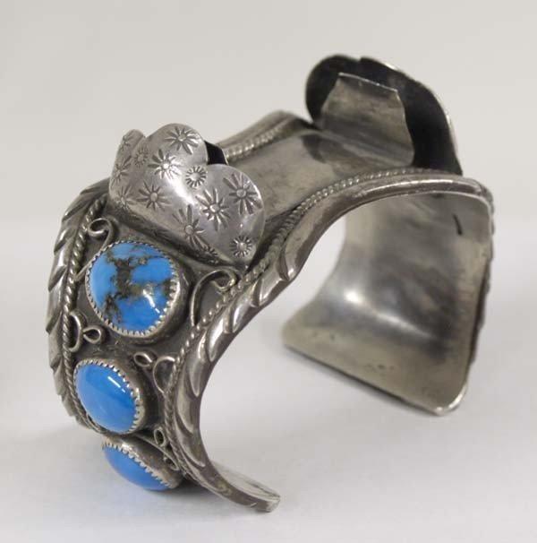 Navajo Silver Turquoise Watch Bracelet
