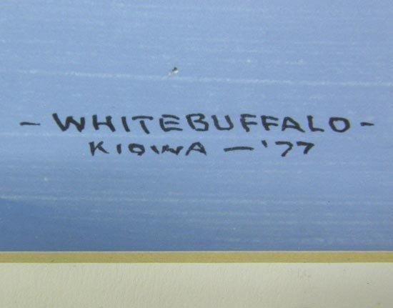 1977 Original Kiowa Painting by White Buffalo - 3