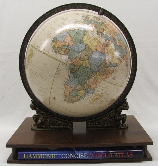 Globe With Stand And World Atlas