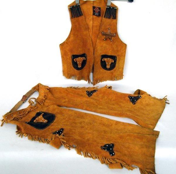 Suede Little Buckaroo Chaps & Vest