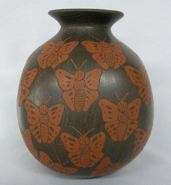 Mata Ortiz Butterfly Jar by Esmeralda Heras